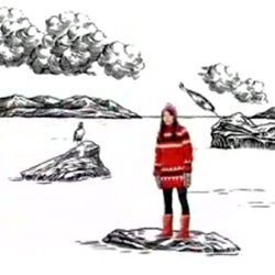 Videos worth watching this morning ~ Icelandic Reyka Vodka's youtubes ~ brilliantly written, cute clothes, adorable actress, and the black and white sketch animation world is great.