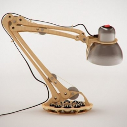 Rhizom wooden lamp is an absolute rock 'n' roll. It resembles human skeletal leg which lends it an existential appeal.