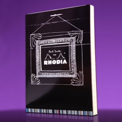 Design house,Paul Smith has teamed up with France's Rhodia Notebook Company to celebrate their 75th anniversary with a collection of design inspired covers. Available in the traditional orange cover or special black cover.