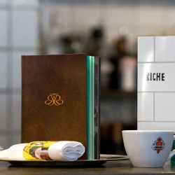 Riche is one of the most classic restaurants in Stockholm and has been at the same address since 1893. To celebrate its long history Planet Creative has designed a book to be given to the most loyal customers.