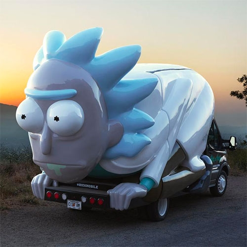 Adult Swim has created a Rickmobile designed by Ghostlight to promote Rick and Morty. It will be cruising around the country, and making stops at Comicons of course.