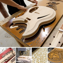 Inside the Rickenbacker Guitar Factory Part 1! Woodshop... you'd be amazed to see how a few pieces of wood get transformed into a stunning guitar...
