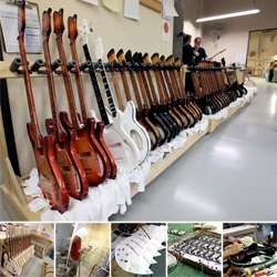 Inside the Rickenbacker Guitar Factory Part 2! From primer to sanding to finishing it off with all of the electric bits that make these the iconic electric guitars they are...