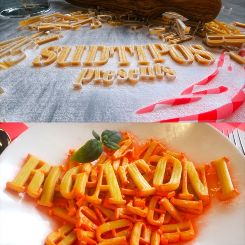 Rigatoni Font by Sudtipos/Alejandro Paul. Great images in the pasta inspired gallery!