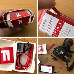 Triggertrap - app and dongles to turn your phone into a controller for your camera! Timelapses made easy. Whistle, clap, apple watch and more to control your shutter! And the packaging is even better than you'd expect.