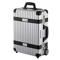"Rimowa 50 Years of 911 Trolley Case ~ limited to 911 pieces. Black and white houndstooth interior lining and made of original seat material used in the Porsche ""50 Years of 911"" anniversary model."