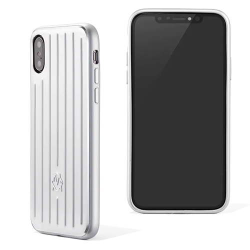 Rimowa Aluminium Groove Case for iPhone XS/XS Max/XR - lightweight, slim case is made from aluminium and shockproof TPU