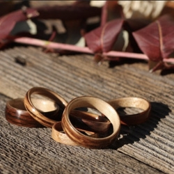 Bentwood Anniversary Rings from Bojt Studio.  