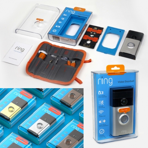 RING Video Doorbell Packaging by Bluemap Design. the mini tool roll is a particularly fun touch.