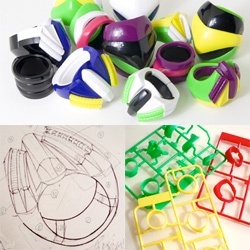 "Clunky Design's Plarings ~ bringing the best of plastic ""put it together yourself"" toys and big chunk plastic rings... they've created some incredible ring ""kits"" that are part puzzle due to their complexity!"