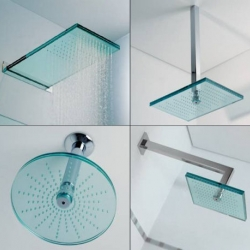 These glass shower heads by Ritmonio are not only beautiful to look at but powerful as well. I'd never get out of the shower!