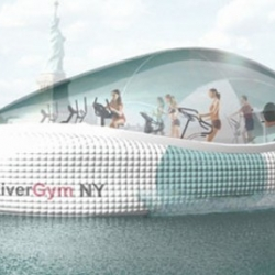 The River Gym concept is a human-powered floating gym that will provide the user with the one experience that no other gym can provide: floating your workout around Manhattan.