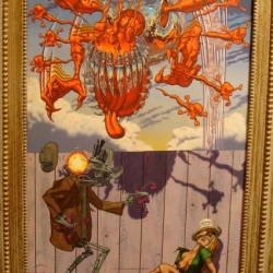 Robert Williams' Appetite For Destruction was on display at Scope Miami.  Most may know this as the original cover art and title for the Guns N' Roses album