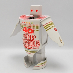 As part of the huge 40th anniversary celebration for their instant noodle soup product Cup Noodle, Nissin created a limited edition transformable Robo Cup Noodle Timer.