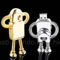 Adorable Robot USB flash drives with springy appendages!