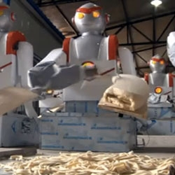 Robot Chef that makes sliced noodles is appearing all over noodle shops in china...