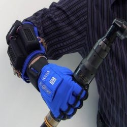 General Motors and NASA collaborated on the  Robonaut 2 (R2) project that led launching the first human-like robot into space in 2011. They are now jointly developing a robotic glove, the Human Grasp Assist, a.k.a. K-glove, a.k.a. Robo-Glove.