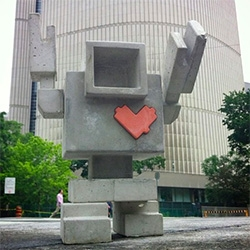 Robot Love Invasion takes over toronto - adorable concrete bots!
