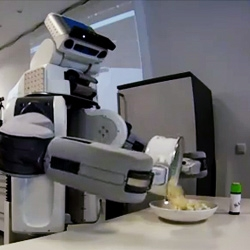 Robots invade the kitchen again! The Intelligent Autonomous Systems Group at Technische Universität München have encouraged them to take over the world of popcorn and salami sandwiches!