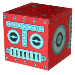 ROBOX; a series of 9 storage boxes that can turn into giant robot in no time