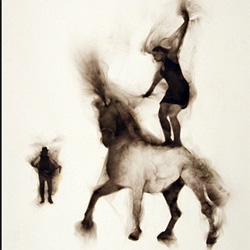 Artist Rob Tarbell creates mesmerizing images, many involving the circus, using smoke as his medium.