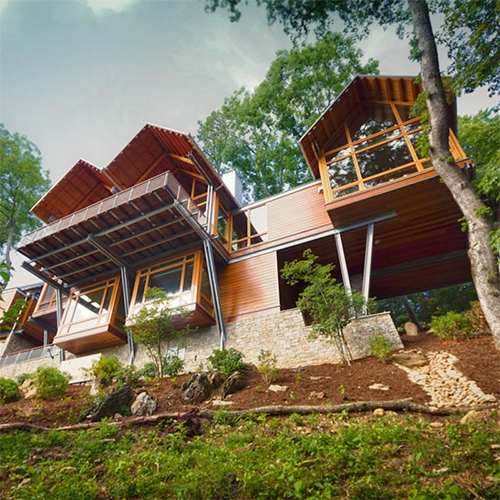 The Slickrock House by Carlton Edwards in Burnsville, NC. (And a bit about our new side project @FutureNashville)