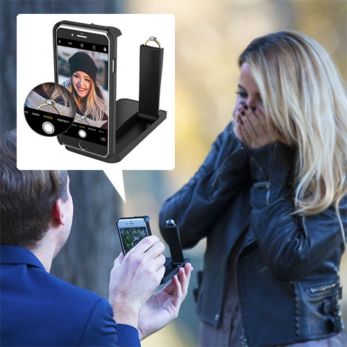 ROKSHOK - the hidden engagement ring iPhone case that lets you video the whole moment from the perspective of the proposer/ring. (Hidden so long as the proposee doesn't notice you switched phone cases?)
