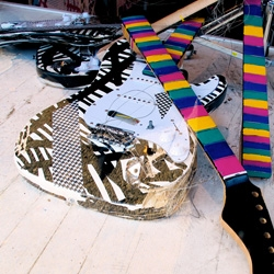 Amazing new exhibition from ghostfuk3r - smashed guitar sculptures in the spirit of Gustav Metzger and Pete Townsend.