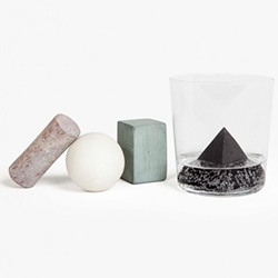 Piet Moodshop has Geometric Drink Stones to cool your drink. Far more interesting visually than soapstone cubes.