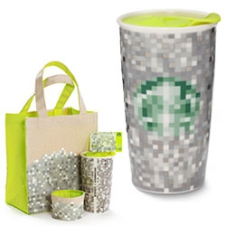 Starbucks x Rodarte = a super pixelated looking holiday collection...