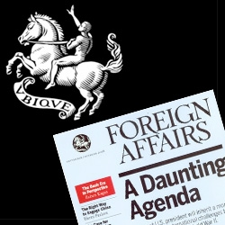 Foreign Affairs Magazine ~ love General Projects' Blog's look at the cover design and logo origin!