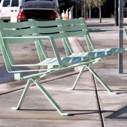 The future looks grand.  Bring DoubleButter's rogue benches to your town.  Roadrunner Bench!