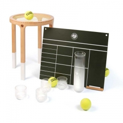French 5.5 Designers interpret the French Open (Roland Garros) in 3 sets. The ball tubes turn to caraf and glasses, racket to stool, and the score board plans your days.