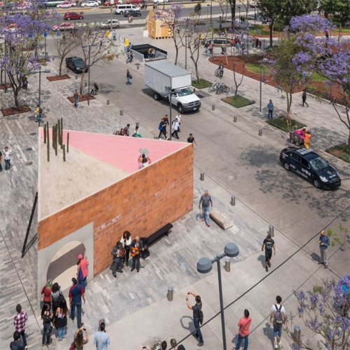 The Room, 43 sq m temporary pavilion in the heart of Mexico City. By Enrico Dusi Architecture and Salottobuono, architectural office in Milan run by Matteo Ghidoni.