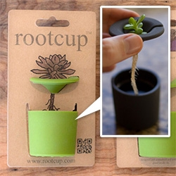 Rootcup (in regular and BIG) ~ a simple, elegant solution to growing plant cuttings! Nice packaging/branding too...