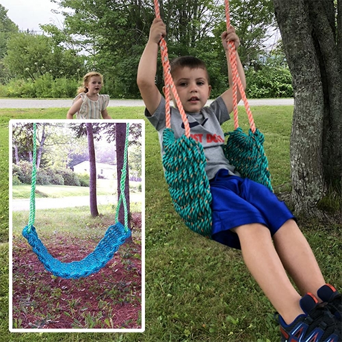 Maine Lobster Rope Swings at Bella Luna Toys. Woven from real lobster trap rope (nylon).