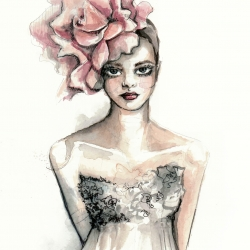 Stunning fashion illustration by PaperFashion.