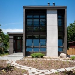 Carol Richard, founding partner of  Atlanta-based architecture firm Richard Wittschiebe Hand designed her own home in Madison, Wisconsin.
