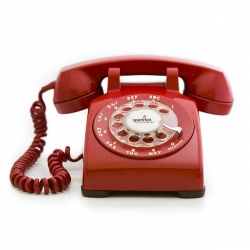 Yes please! Original rotary-dial phones, Bionic-Manned into cell phones.  All you do is add a SIM card.  Real rotary dial, real old-school bell. The best part? The battery will run it for 5 days!