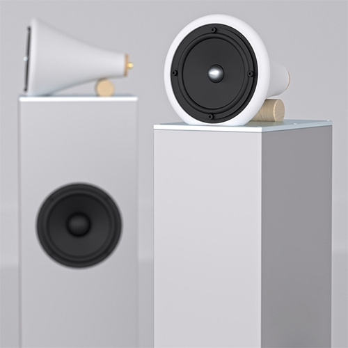Joey Roth Ceramic Towers elevate the original Ceramic Speakers into a full-room hifi system. Made one at a time in Oregon, USA.