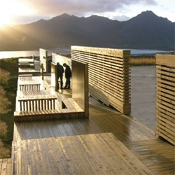 70ºN Arkitektur designed some nice rest areas, bicycle sheds and birdwatching towers along the National Tourist Routes in Norway.