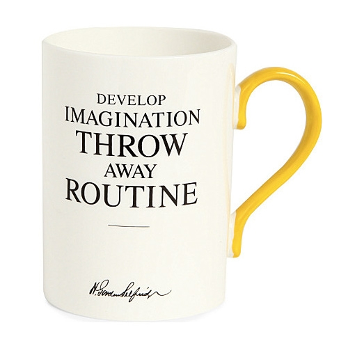 """""""Develop imagination, throw away routine"""" Selfridges Heritage Collection"""