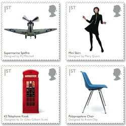 The anticipated Royal Mail British Design Classics stamps will be available January 13th. But, the Royal Mail has also announced that they will release a new stamp series every month of 2009, including a series on Post Boxes, Darwin, and Mythical Creatures.