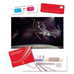 The new Royal Mail work: Direct mail to 3,000 top advertisers and their agencies, focuses on the idea of direct marketing and digital elements coming together to create a third enhanced dimension.