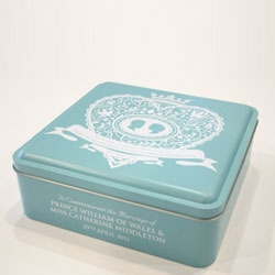 Commemorative Biscuit Tin to celebrate the Royal Wedding by Kate Forrester for M&S.