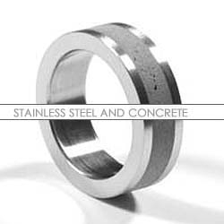 "stainless steel and concrete. I am falling in love with all things concrete.......concrete blond has outrageous concrete ""wall paper"" and now this awesome ring!"