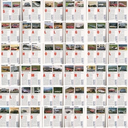 James May (one of the hosts of the Top Gear) was fired from AutoCar magazine in 1992 for hiding a secret message in the first letters of each article.  Here is a picture of all of those articles put together.
