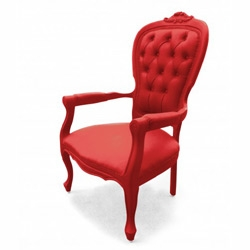 rubberized baroque furnitures, from Fantastic Plastic. Love the primary colors