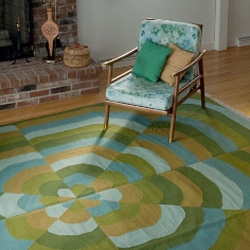 Angela Adams, the queen of hip, mod rugs, has unveiled a new collection of hand-woven floor coverings.  Gorgeous!