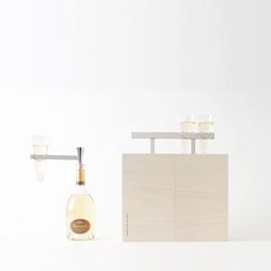 Nendo designed this picnic box called 'Kotoli' for champagne house Ruinart.